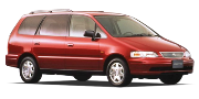 Honda Odyssey II правый руль 5 мест 1999 — 2003